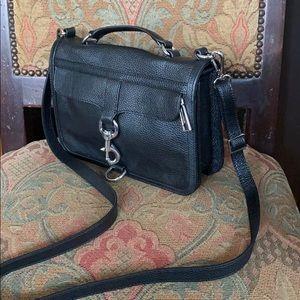 Rebecca Minkoff black leather bag
